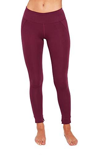 SATVA - Tights for Women (Premium Cotton), Aubergine, XL