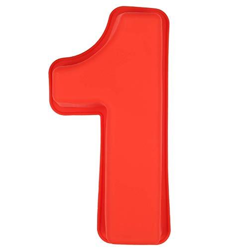 LIHAO Molde de Silicona Números Moldes de Formas Específicas para Tarta Pastel Repostería Cumpleaños Aniversario de Bodas - Número 1
