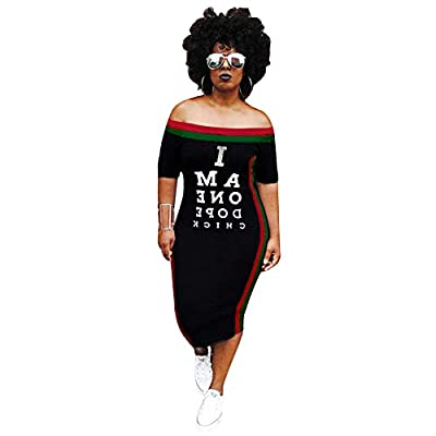 Style: Polyester spandex, soft, stretchy, comfy fit, casual, sexy, fashion tshirt maxi dress for women spring summer fall Feature:long sleeve, off the shoulder with elasticity for fit, 3/4 long sleeve self tie cuffs, letter print dress women, maxi dr...