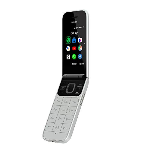 Nokia 2720 - Portable débloqué 4G - (2,8 pouces - 4Go stockage - Double Sim - KaiOS V2.5) Gris