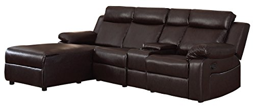 Homelegance Dalal 102' Reclining Sectional with Console, Brown