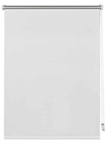 Deco Company 23-1026 Tenda termica a rullo con morsetti o da incollare, Risparmio energetico, Tutte parti montaggio incluse, Poliestere, Bianco, 40 x 150 cm