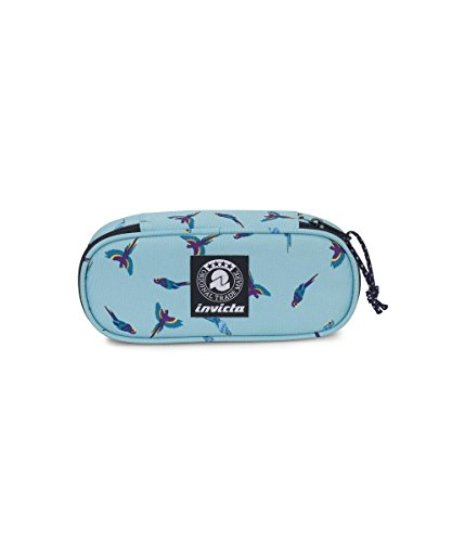 Portapenne INVICTA - LIP PENCIL BAG - Waterfall Parrots fantasy - porta penne scomparto interno...