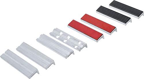 BGS 8442-1 - Set di 8 ganasce di protezione per morsa a vite, in alluminio, 125 mm, con magnete, in alluminio