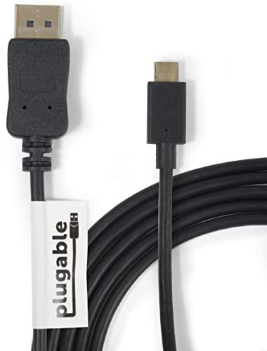 Plugable USB-C - DisplayPort 変換ケーブル 1.8m、2018 iPad Pro、2018 MacBook Air、2017/2018 MacBook P...