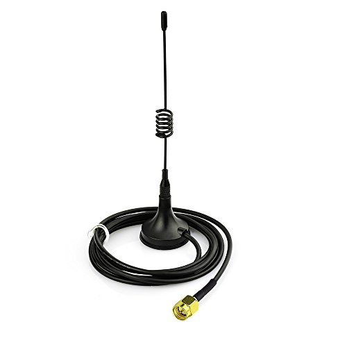 Eightwood SMA Antena 433Mhz Antena Plug 3dbi con Base magnética 300cm de Cable 9.8ft para Radio de radioaficionado Homematic CCU3 CCU2 CC1101