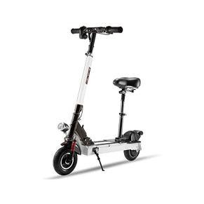 LKNJLL Sentado Scooter eléctrico - Peso Ligero, Plegable y fácil de Llevar, Regulable en Altura, de Dos Ruedas Mini…