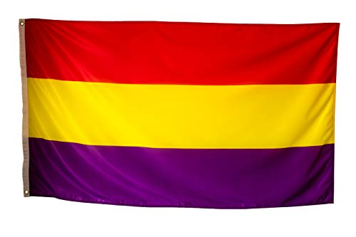 Bandera Republicana Española Grande Exterior de Tela Fuerte