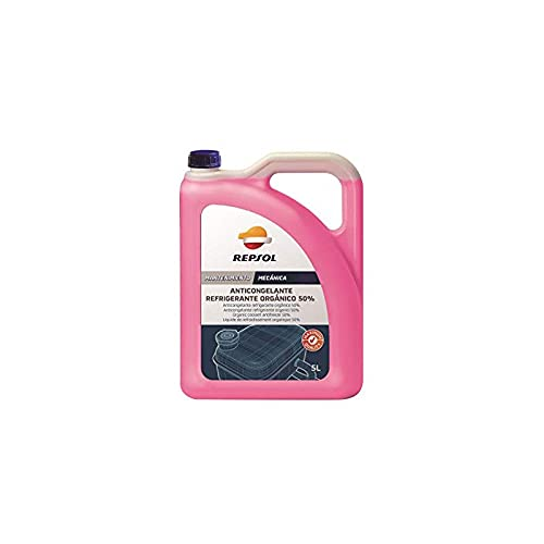 REPSOL Anticongelante Refrigerante Orgánico 50%, 5L