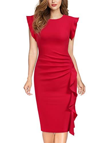 Miusol Casual Slim Fit Coctel Vestido de Lápiz para Mujer N