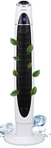 Ventilatore a torre, 3 livelli, ionizzatore, 3 modalit, 60 Watt, timer da 12 ore, telecomando, oscillante, display LED, ventilatore a piantana, ventilatore a colonna