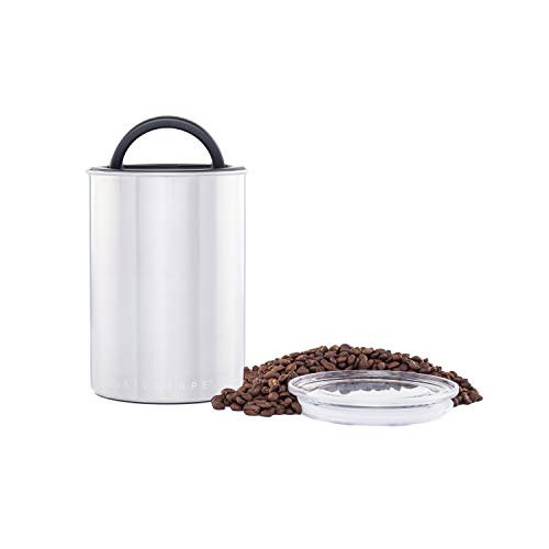 Product Image 1: Airscape Coffee and Food Storage Canister - Patented Airtight Lid Preserve Food Freshness with Two Way Valve, Stainless Steel Food Container, Medium 7-Inch Can, Brushed Steel