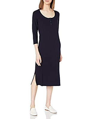 This henley dress features a scoop neck, a button front placket, and side vents for a chic everyday look Our signature rayon-spandex blend gets a fresh update with a cool variegated wide rib Start every outfit with Daily Ritual's range of elevated ba...