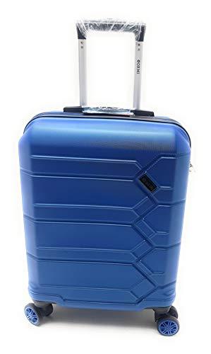 Trolley Ryanair Priority idoneo cm.55x40x20 ABS rigido 8 Ruote (AZZURRO)