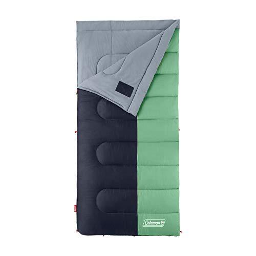 Coleman Sleeping Bag | 40°F Big and Tall Sleeping Bag | Biscayne Sleeping Bag, Mint