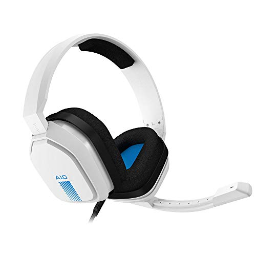 ASTRO Gaming A10 Gaming-Headset mit Kabel, Leicht & Robust, Astro Audio, Dolby Atmos, 3,5mm Anschluss, Xbox Series X|S, Xbox One, PS5, PS4, Nintendo Switch, PC, Mac, Smartphone - weiß Blau