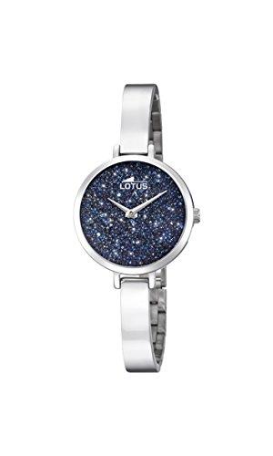 Lotus Damen Analog Quarz Uhr mit Edelstahl Armband 18561/3