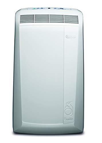 De'Longhi Pac N90 Eco Silent Aire Acondicionado Portátil, Capacidad de Refrigeración 9800 BTU, Ventilador y Deshumidificador, Control Remoto, Fácil Transporte, Blanco