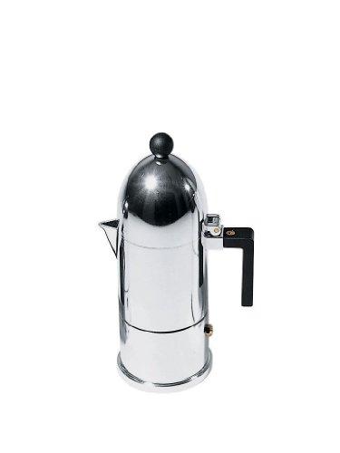 Alessi La Cupola A9095/3 B Caffettiera di Design in Fusione di Alluminio, 3 Tazze