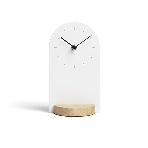 Umbra Sometime Tischuhr, Holz/Metall, Weiß,