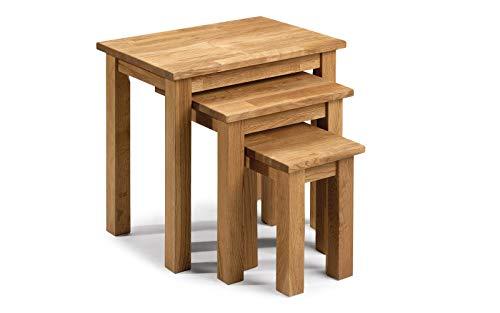 Julian Bowen, JB-NT3, Set Di Tavolini Sovrapponibili, Beige, 50 x 35 x 48 cm