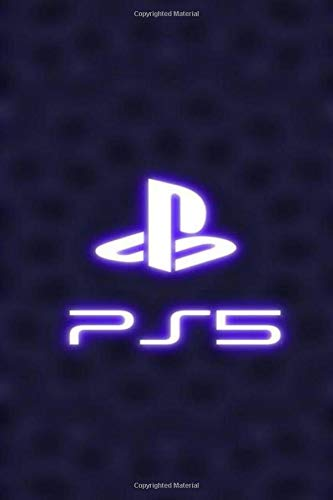 """ps5 notebook: official playstation 5 notebook, 120 blank lined pages, 6x9"""", with glossy cover"""