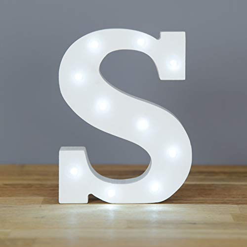 Up in Lights Decorative LED lettere bianche Wooden Sign - attaccatura di parete, alimentato a...
