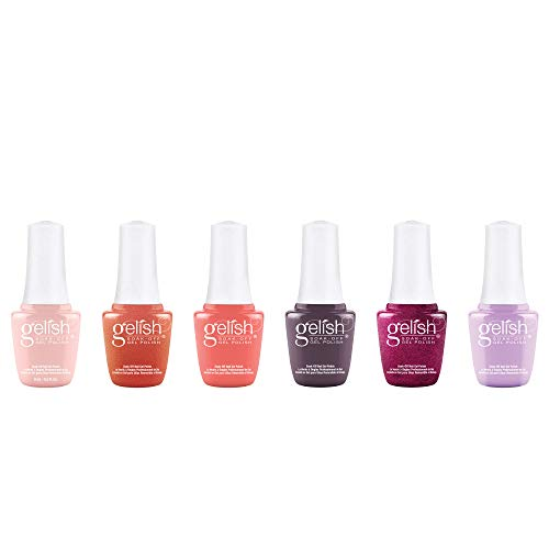 Gelish Complete Sunrise Collection 9 mL Soak Off LED/UV Light Shimmering Gel Nail Polish Set, 6 Color Pack