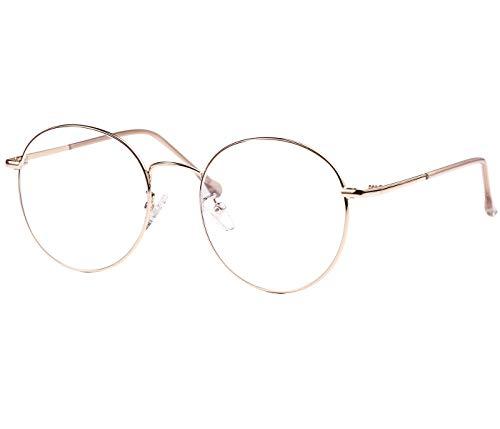 ROSA&ROSE Blaulichtfilter Brillen Computer Gaming Brillen Anti Müdigkeit Lesebrille für Herren Damen – UV-Schutz