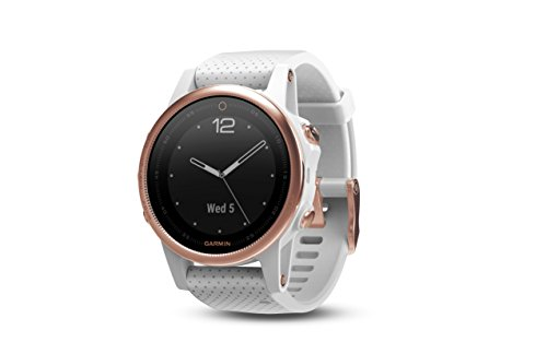 Garmin Fēnix 5S Sapphire - Rose Goldtone with White Band
