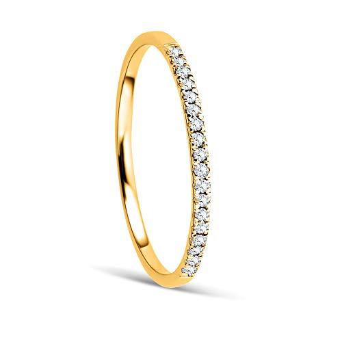Orovi Anillo Señora compromiso/aniversario en Oro Amarillo con Diamantes Talla Brillante 0.08 ct Oro 9 Kt / 375