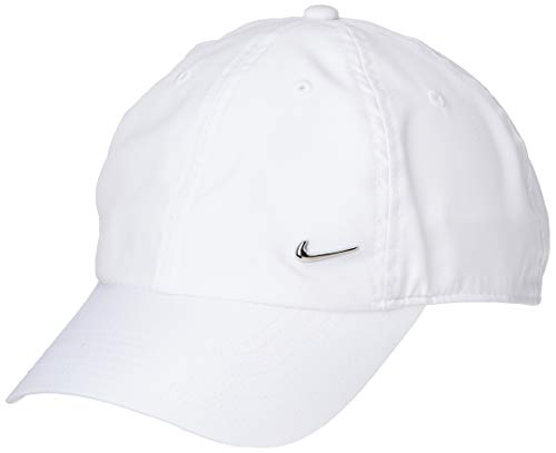 Nike H86 cap Metal Swoosh, Cappellino da Baseball Unisex Adulto, Bianco (White/Metallic Silver 100),...