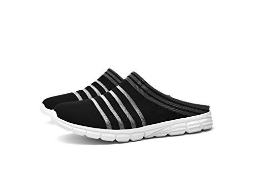 CLYCTIP Zapatillas deportivas para mujer, zapatillas deportivas para caminar, gimnasio, correr, elásticas, ligeras, para mujer, color Negro, talla 39 EU