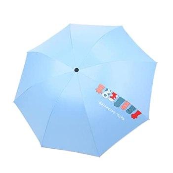 Parapluie pliable en forme de griffe de chat avec protection UV, bleu,