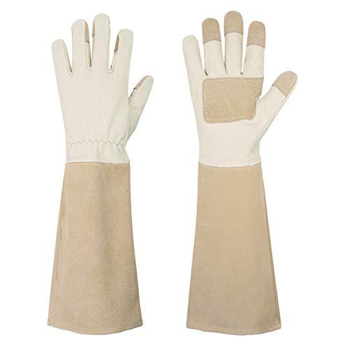 Rose Pruning Gloves for Men & Women, Long Thorn Proof Gardening Gloves