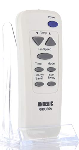 Anderic RR0035A AC Remote Control - Replaces Many LG, GE, Goldstar, Hampton Bay, Kenmore, and Zenith Air Conditioner Transmitters - No Programming Needed - RR0035A
