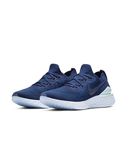 Nike Epic React Flyknit 2 - Zapatillas de correr para mujer, color azul vacío/índigo, azul (Black//White/White), 40 EU