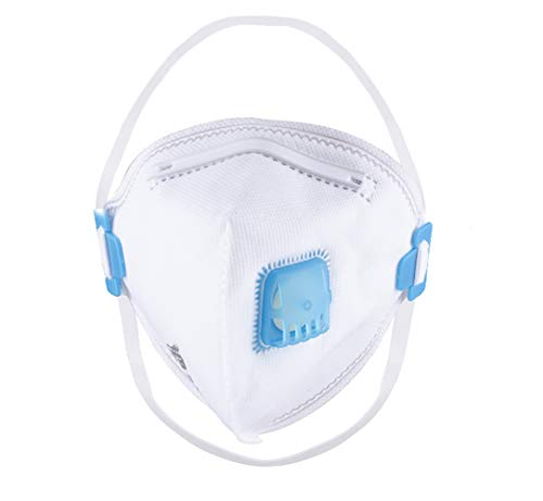 JFDHNUI 5X FFP2 Mascara Degradabile con Valvola Domestica/Particelle Esterne/Polvere/PM 2.5 / Polline (5 Pezzi)