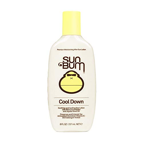 Sun Bum Cool Down Aloe Vera Lotion   Vegan and Hypoallergenic After Sun Care with Cocoa Butter to Soothe and Hydrate Sunburn Pain Relief   8 oz