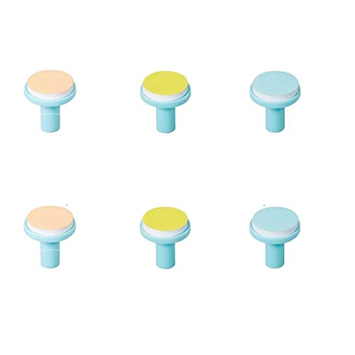 Baby Electric Nail File Replacement Pads Refills - Jaybva 6PCS Replacement Grinding Heads Polish Disc for Standard Nail Trimmer Clippers and Cutter Kit Blue