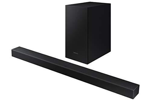 Samsung HW-T450 Barre de Son, Son 200 W, 2.1 Ch, Subwoofer sans Fil, Dolby Digital 2.1, Mode Jeu, Bluetooth 4.2 Power on et One Remote Control, Version 2020