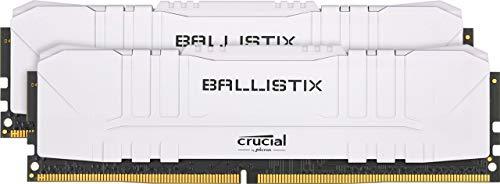 Crucial Ballistix BL2K8G30C15U4W 3000 MHz, DDR4, DRAM, Memoria Gamer para ordenadores de sobremesa, 16GB (8GB x2), CL15, Blanco