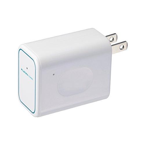 PLANEX ホテルでWiFi コンセント直挿型 無線LANルーター ホテル用 11n/g/b 150Mbps ちびファイ3 MZK-DP150N...