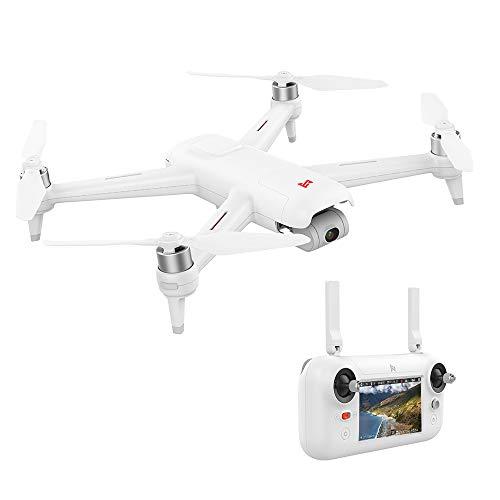 Goolsky FIMI A3 Drone GPS con Fotocamera 3 Assi Gimbal 1080P 5.8G FPV Droni Trasmissione in Tempo Reale Fotografia Aerea 25mins Tempo di Volo 4.3 Pollici Telecomando LCD Incorporato RC Quadcopter