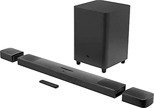 JBL Bar 9.1 True Wireless Surround – Sound Bar mit Subwoofer in Schwarz – Mit Dolby Atmos, DTS:X & abnehmbaren Lautsprechern