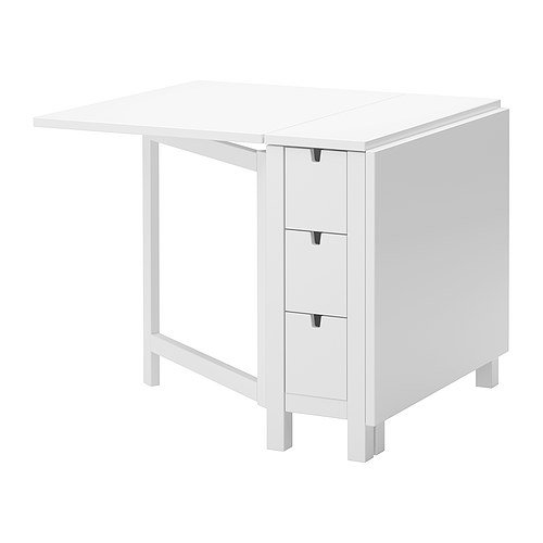 Ikea Gateleg Table, White 1626.2928.1014