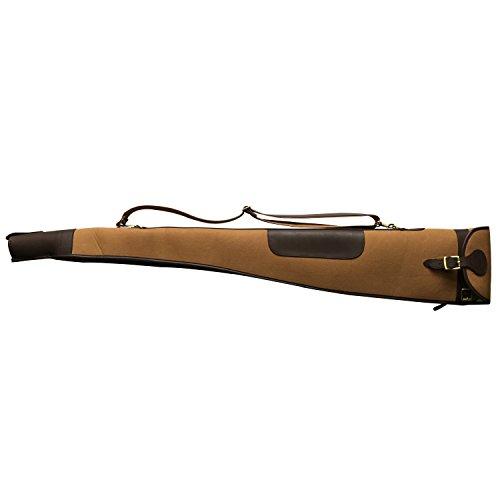 tourbon Vintage en Toile et Cuir Sac de transport pour la chasse Pistolet Fusil antidérapant étui 134,6cm