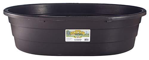 Little Giant Poly Oval Stock Tank (Black) Heavy...