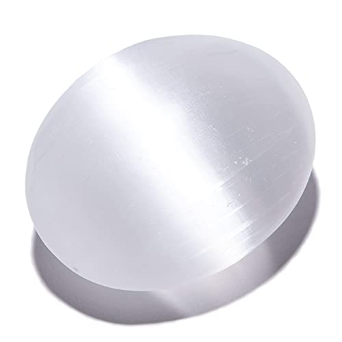 KALIFANO Selenite Worry Stone with Healing & Calming Effects...