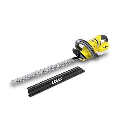 Kärcher HGE 18-50 Battery Akku-Heckenschere (inkl. Schnittgutkehrer, Leistung je Akkuladung: 325 m, Schnittlänge 50 cm, Gewicht 2,9 kg, Messerspitzenschutz, Sägefunktion)